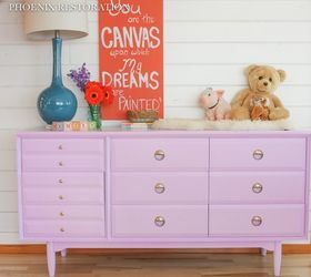 Etonnant Mid Century Nursery Dresser In Lilac, Bedroom Ideas, Painted Furniture