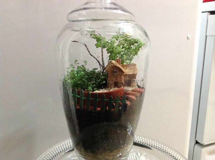 diorama terrarium diy, crafts, gardening, terrarium