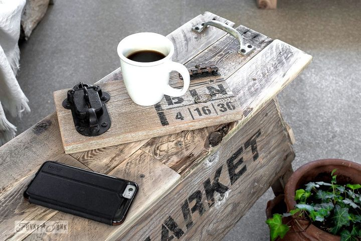 from crappy sawhorse to creative coffee table vintage style, diy, outdoor furniture, pallet, repurposing upcycling, woodworking projects