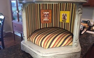doggy bedroom, bedroom ideas, chalk paint, painted furniture, pets, pets animals, reupholster