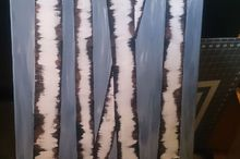 how to make a birch painting on canvas, crafts, how to, wall decor