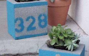 Springtime Concrete Painted Planter
