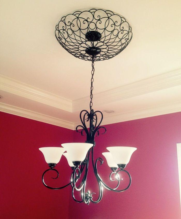 Iron Art On A Budget Dining Room Ideas Diy Lighting Repurposing Upcycling