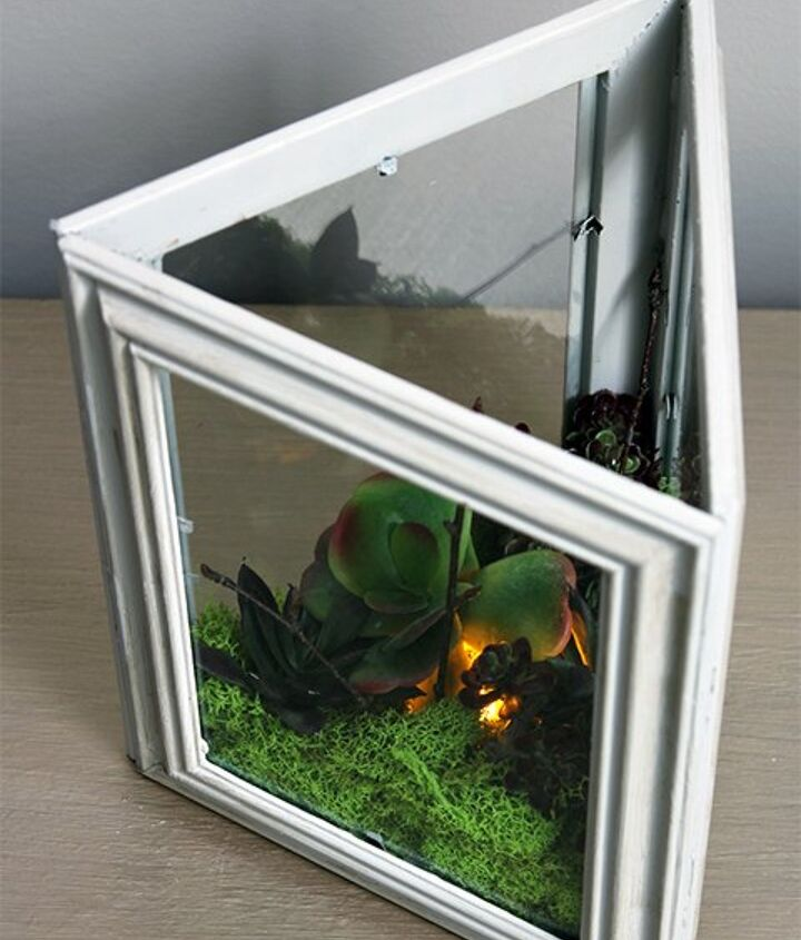 s the 15 tiniest succulent ideas we ve ever seen, flowers, gardening, succulents, This succulent lantern from picture frames