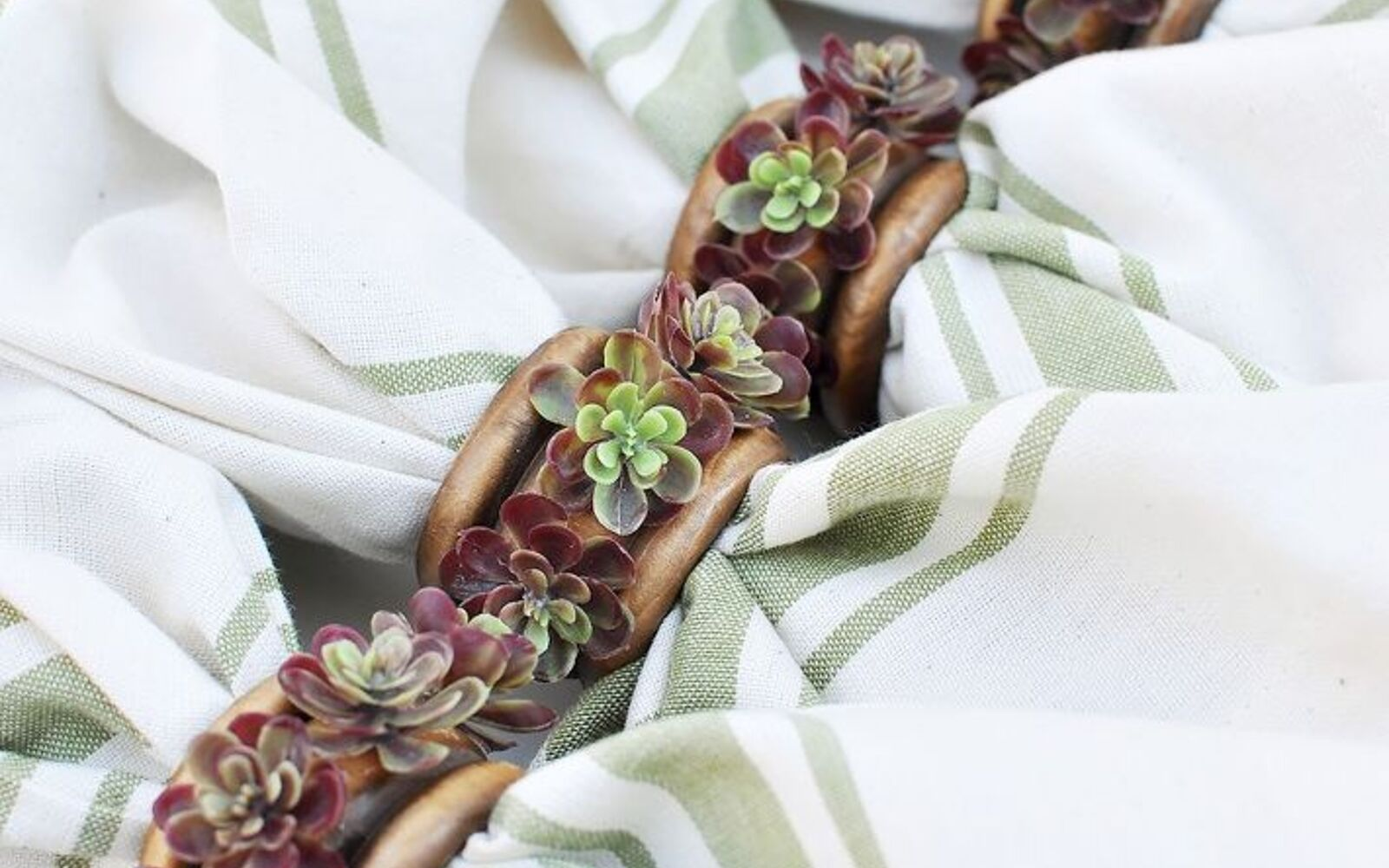 s the 15 tiniest succulent ideas we ve ever seen, flowers, gardening, succulents, A few succulent adorned napkin rings