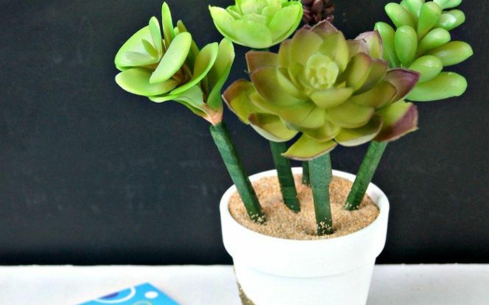 s the 15 tiniest succulent ideas we ve ever seen, flowers, gardening, succulents, These succulent flower pot pens