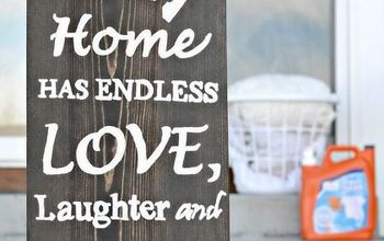 DIY Wooden Sign for Laundry Room Tutorial