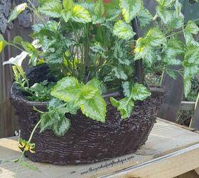 Turn Your Wicker Basket Into A Hypertufa Concrete Garden Basket, Concrete  Masonry, Container Gardening