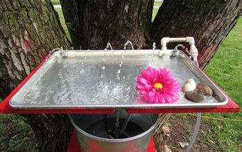 Making a Hummingbird Water and Bathing Tray Out of a Cookie Sheet