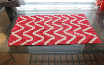 transform kitchen dish cloth to a fun placemat, crafts, repurposing upcycling