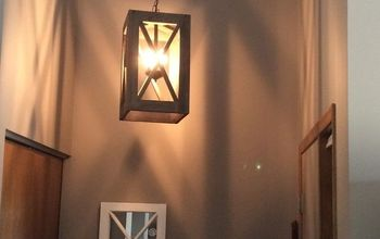 DIY Upcycled Entry Pendant Light