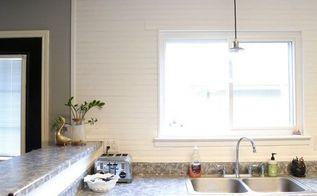 diy beadboard backsplash, diy, kitchen backsplash, kitchen design, wall decor, woodworking projects