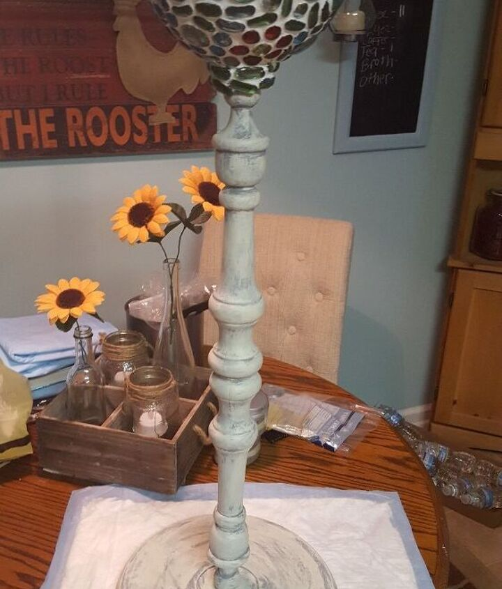 double duty plant stand bird bath from repurposed junk, outdoor furniture, repurposing upcycling