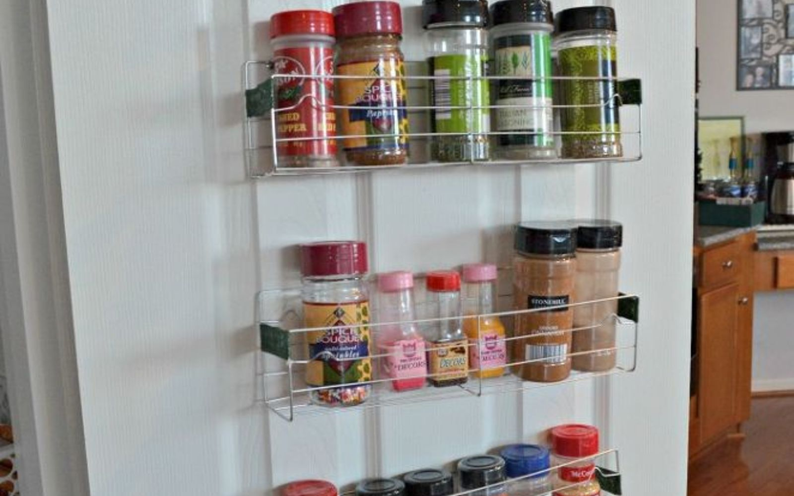s 14 hidden home decor gems you can find in any dollar store, home decor, repurposing upcycling, A rickety cooling rack can store your spices