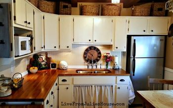 diy budget cottage kitchen makeover, diy, home improvement, kitchen design, painting