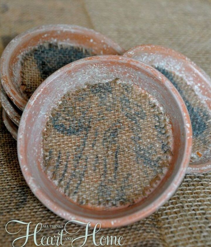 s 13 awesome ways to reuse a terra cotta saucer, container gardening, gardening, repurposing upcycling, Use small saucers as stylish coasters