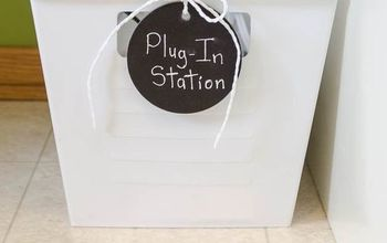 organize multiple plug ins with this easy inexpensive storage idea, home office, organizing, storage ideas