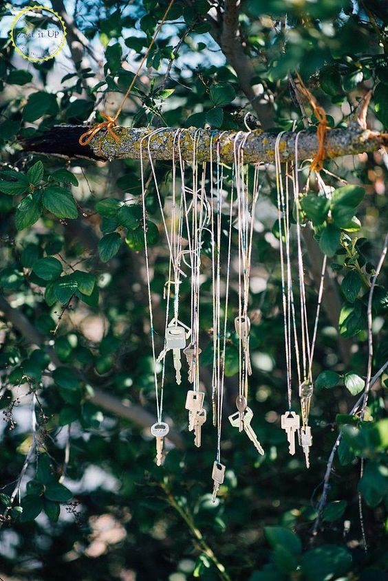 diy key wind chime, crafts, how to, outdoor living, repurposing upcycling