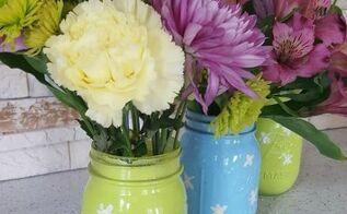 make your own spring mason jar vases, container gardening, crafts, gardening, mason jars