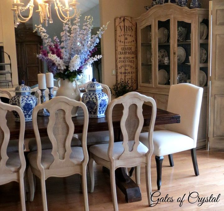 Painting dining room chairs with chalk paint hometalk - Dining rooms furniture ...