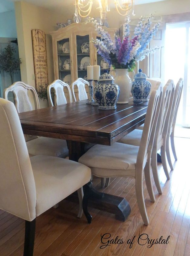 Painting dining room chairs with chalk paint hometalk for Dining room table and chairs ideas