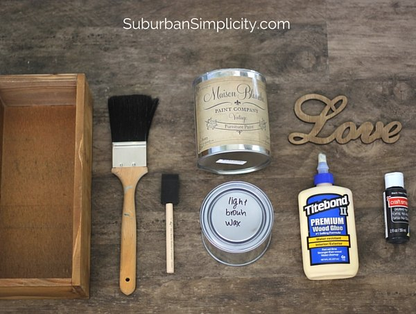 diy love wood box, chalkboard paint, crafts