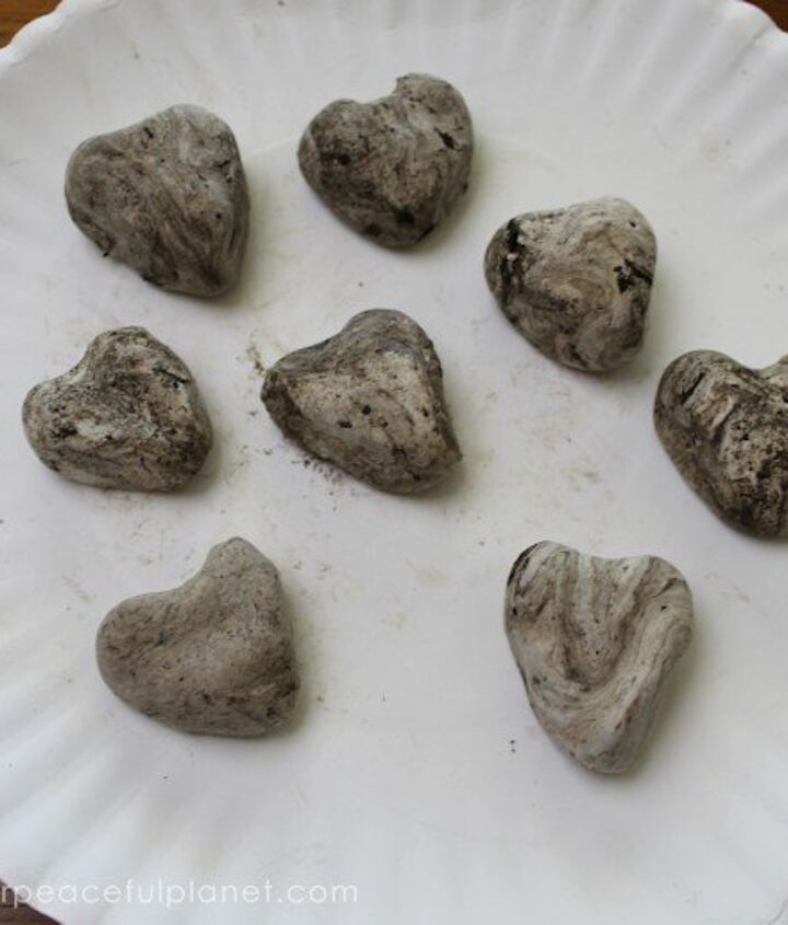 heart shaped wildflower seed bombs, crafts, gardening
