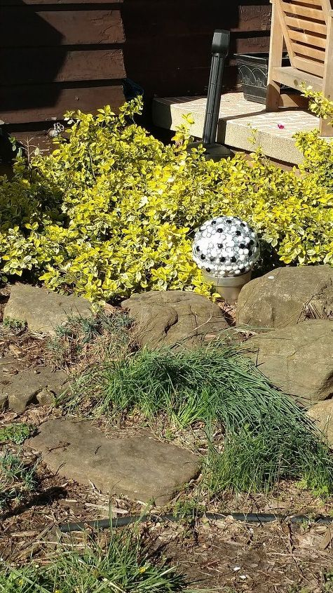 unbreakable gazing balls, crafts, gardening