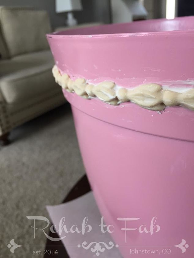 plastic pink flower pot gets a face lift, container gardening, gardening, painted furniture, painting
