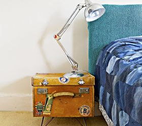 Transform A Vintage Suitcase Into Side Table With Character, Bedroom Ideas,  Decoupage, Repurposing