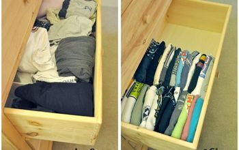 Weekly Organization Tip 8 – 6 Steps to an Organized T-shirt Drawer