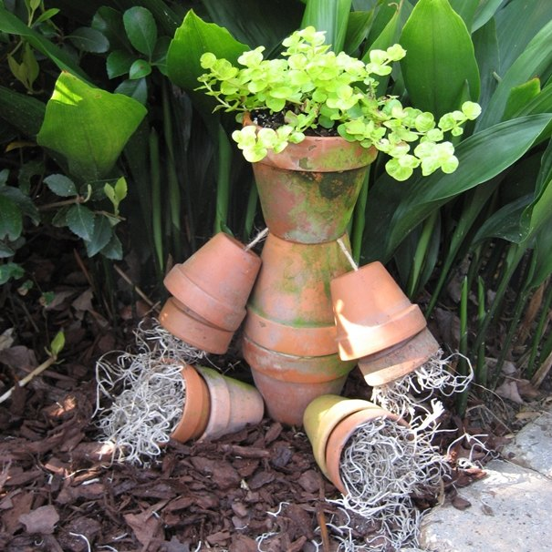 a fun and whimsical flower pot man for your garden, crafts, flowers, gardening