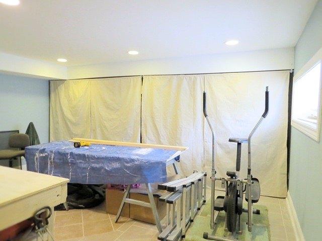 drop cloth curtains on conduit, repurposing upcycling, window treatments, windows