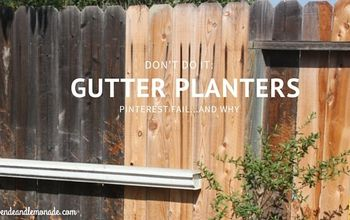 Why NOT to Try Gutter Planters