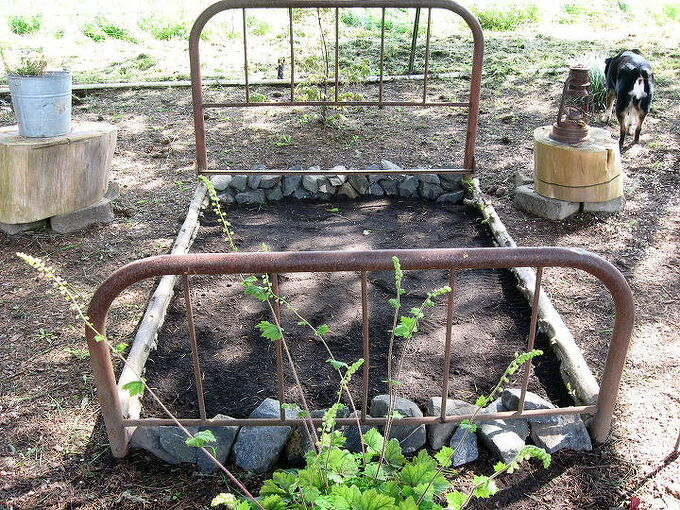 recycled flower bed, gardening, raised garden beds, repurposing upcycling