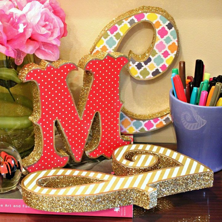 trash to treasure marquee letters, crafts, how to