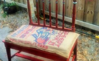 what do you get when you cross a vintage crib end and chair , diy, outdoor furniture, painted furniture, repurposing upcycling