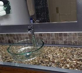 Merveilleux Pebble And Glass Bathroom Vanity, Bathroom Ideas, Painted Furniture