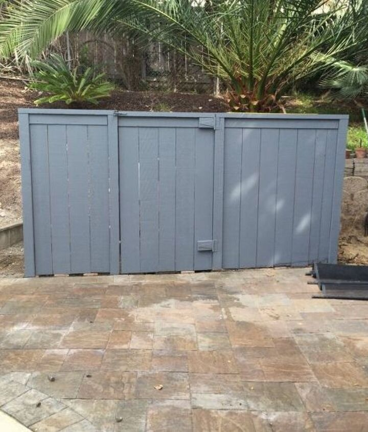 hiding an ugly shed that houses pool equipment , container gardening, flowers, gardening, outdoor furniture, outdoor living, pool designs, repurposing upcycling, succulents