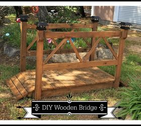 DIY Wood Garden Bridge Hometalk