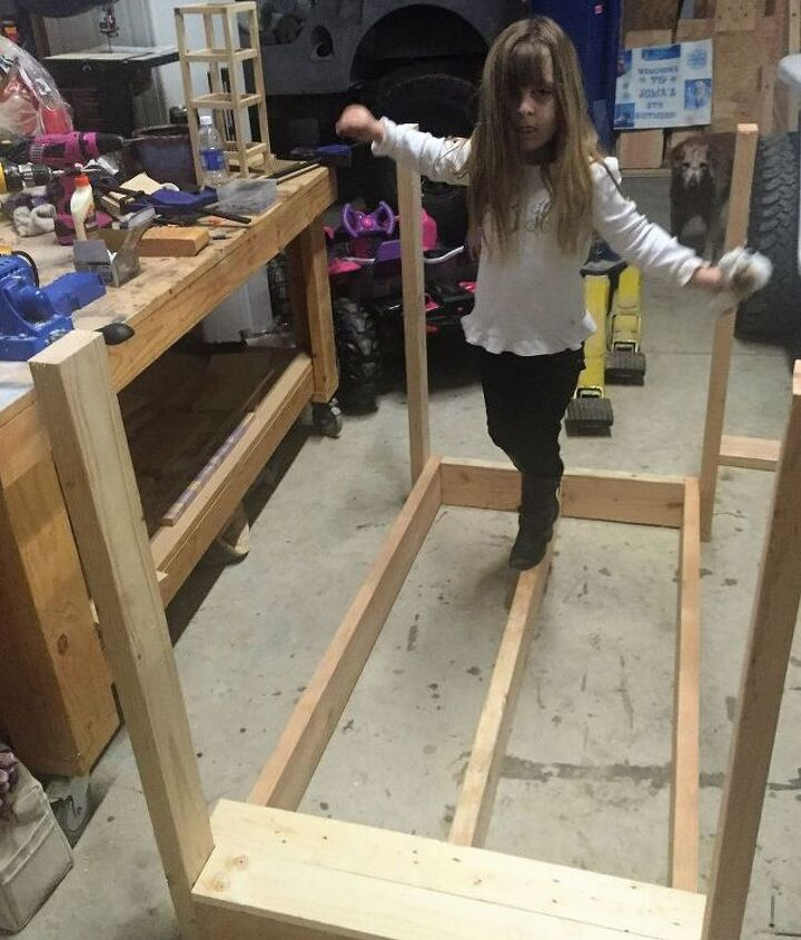 diy wood garden bridge, diy, how to, outdoor furniture, outdoor living, woodworking projects