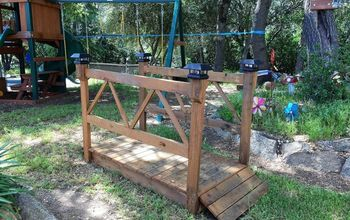 DIY Wood Garden Bridge