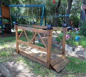 High Quality Diy Wood Garden Bridge, Diy, How To, Outdoor Furniture, Outdoor Living,