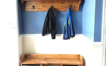 Entryway Bench and Coat Shelf