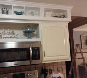 From Outdated Soffits to Usable Space DIY Project | Hometalk on ideas for old kitchen cabinets, ideas for updating cabinets, ideas for decorating above kitchen cabinets shelves,