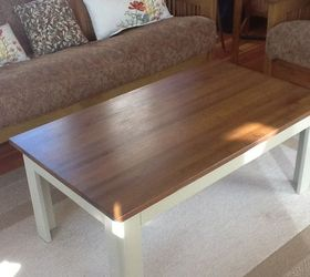 Restained Table Top, Painted Legs