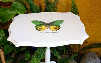 How to Hand Paint a Transfer Graphic Onto Wood Furniture.