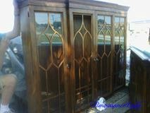 China Hutch top with Cathedral Glass Doors