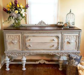 Plain Old Brown Jacobean Buffet to Beautiful Buffet Home
