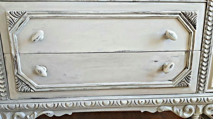 plain old brown jacobean buffet to beautiful buffet, chalk paint, painted furniture